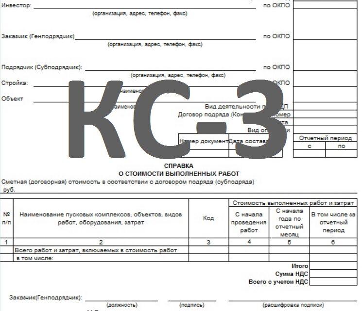 Смета и отчет по формам КС 2 и КС 3