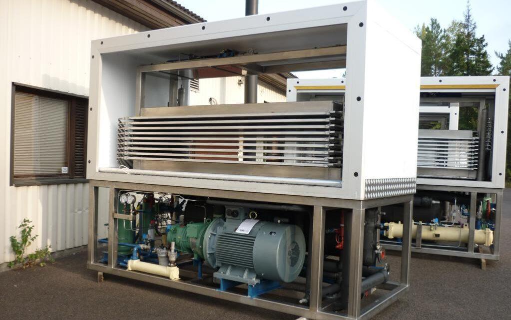 Горизонтальный скороморозильный аппарат для рыбоперерабатывающего предприятия
